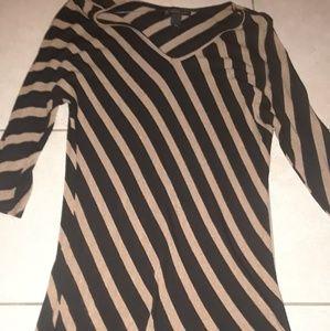 Inc light striped sweater